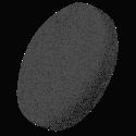 P-Hoogglansschijf (zacht) zwart 160 mm
